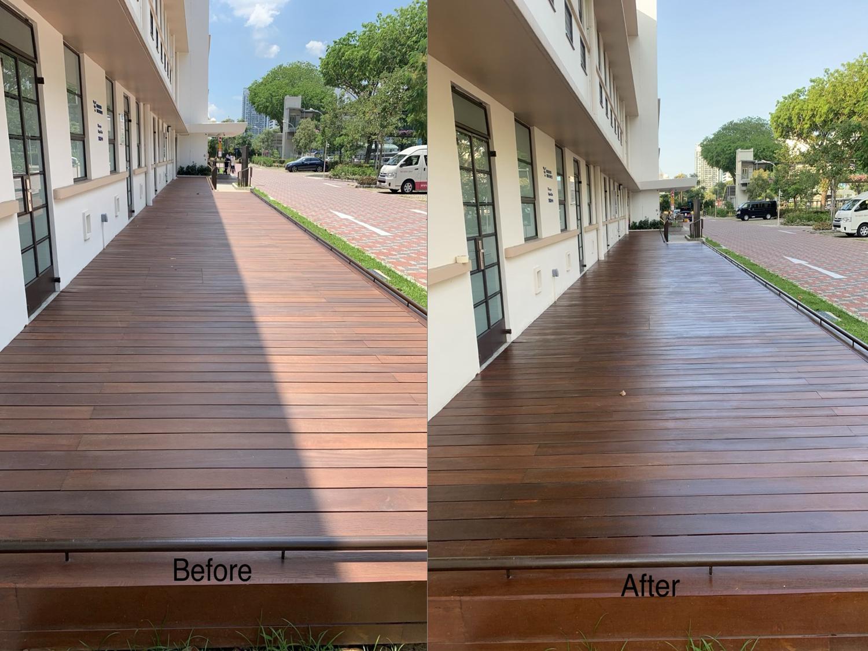 Kwong Wai Shiu Hospital Wooden Decking